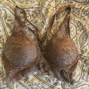 Victoria secret pink nude lace bra/ bralette